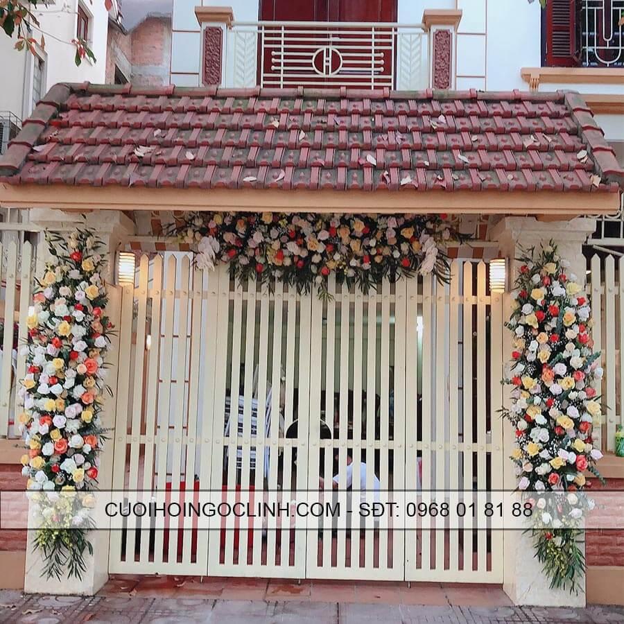 hình ảnh cổng hoa cưới tại nhà riêng
