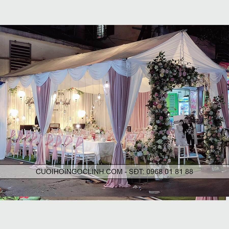 rạp đám cưới mầu hồng