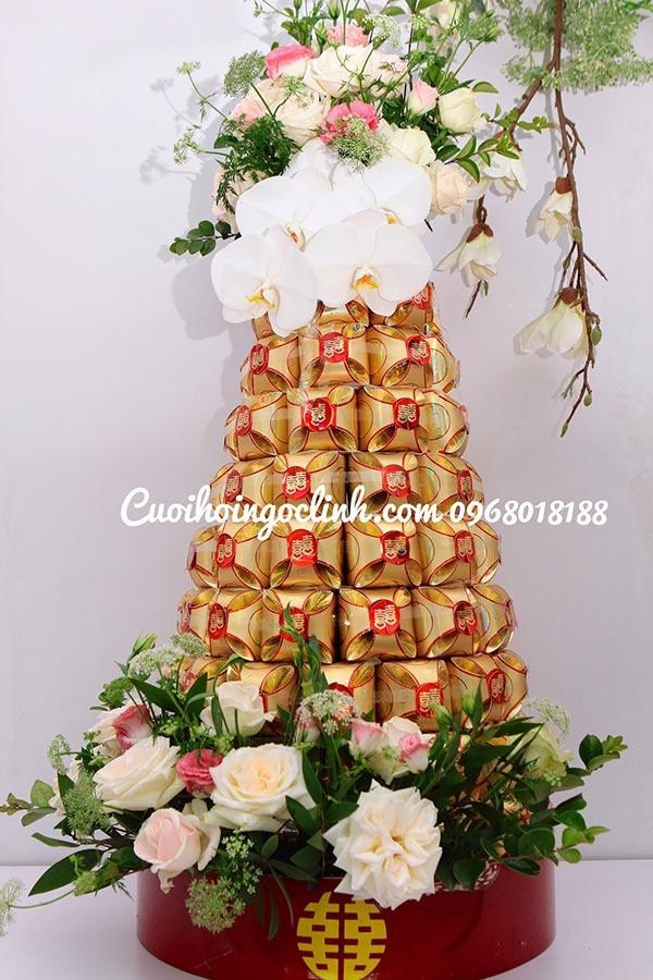 tháp bánh trong bộ lễ ăn hỏi