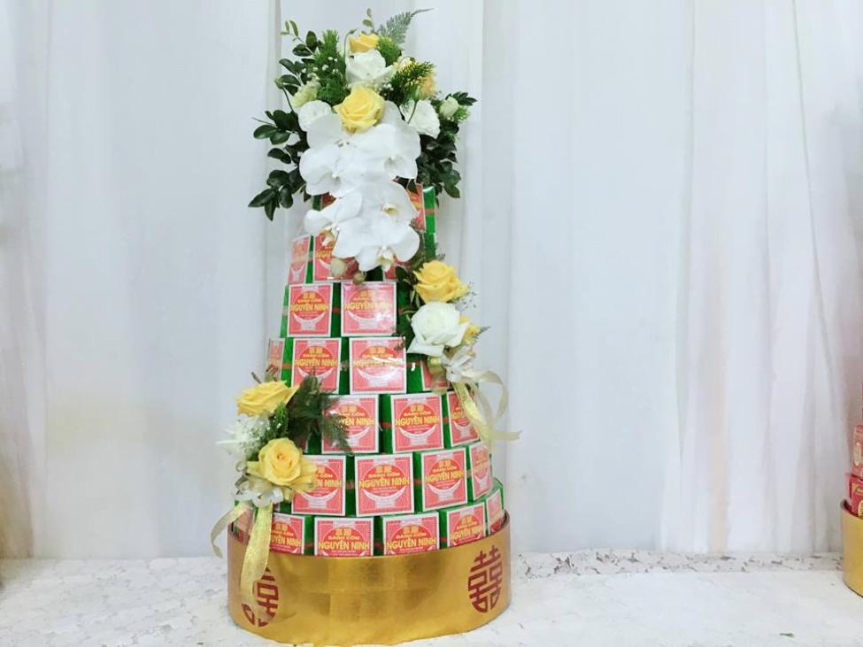 tháp bánh cốm siêu đẹp