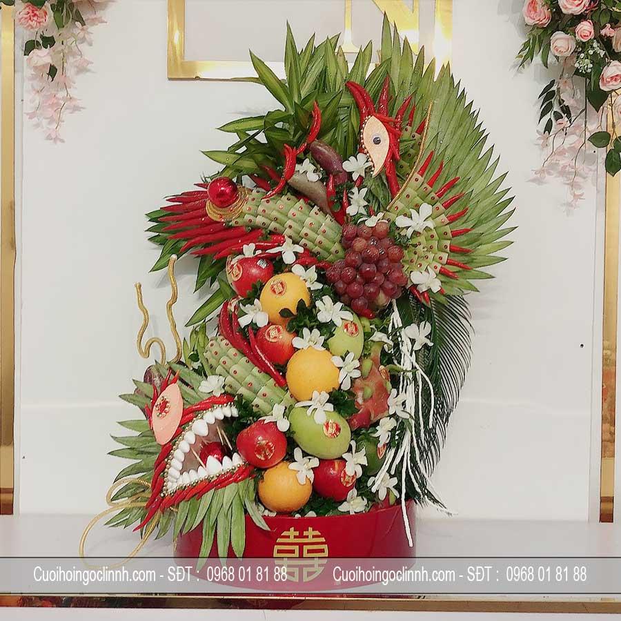 tráp hoa quả rồng phượng