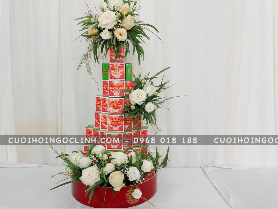 tháp bánh cốm truyền thống siêu đẹp