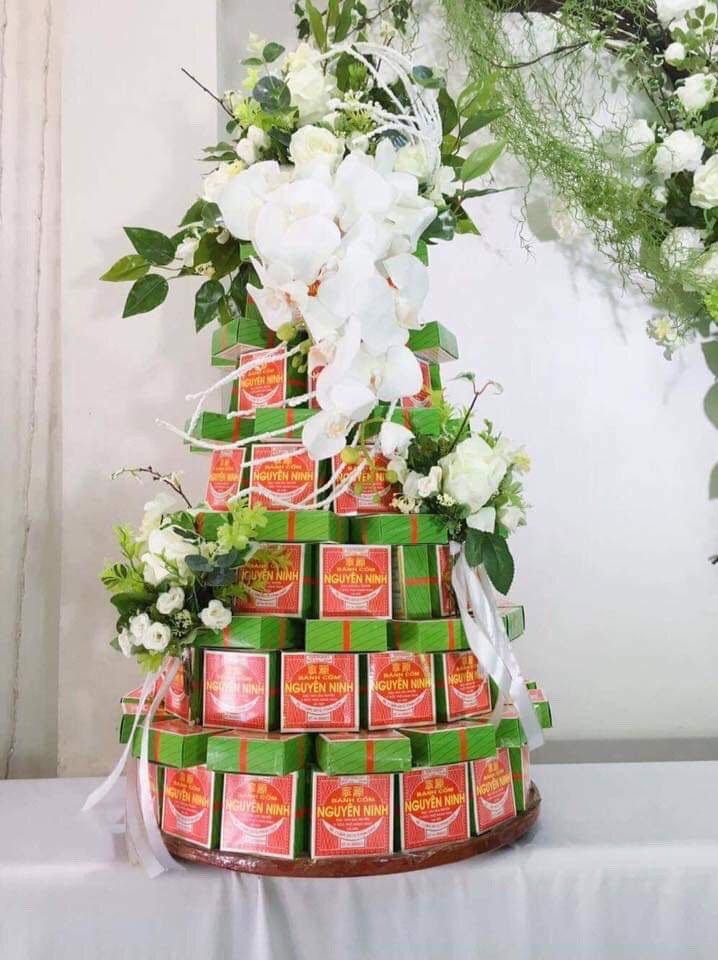 Tháp Bánh Cốm Đẹp 2018