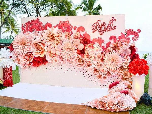 Kiểu phông cưới in bạt