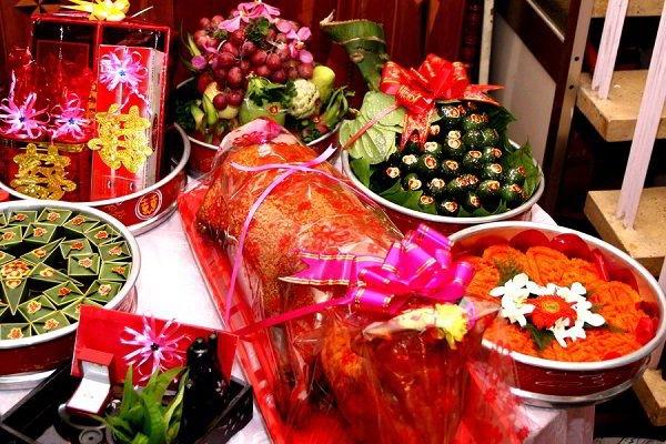 Lễ vật tráp ăn hỏi 15 lễ