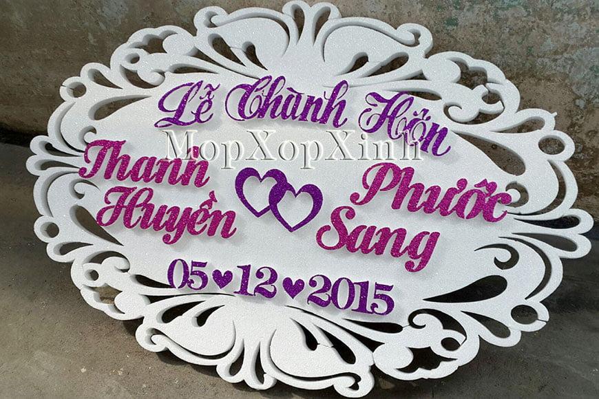 Chữ xốp đám cưới mẫu 1