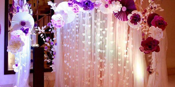Phông cưới hoa giấy