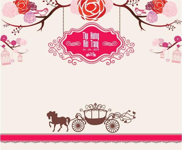 Phông cưới in bạt