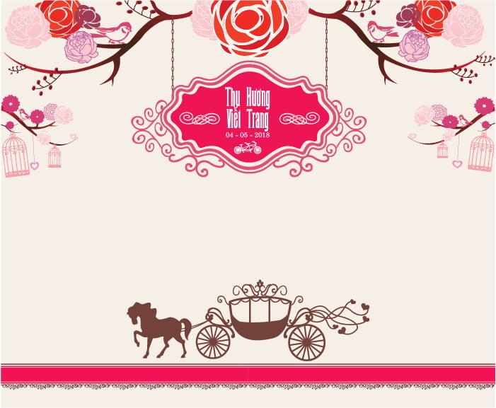 in phông cưới đẹp