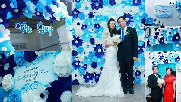 Trang trí phông cưới đẹp