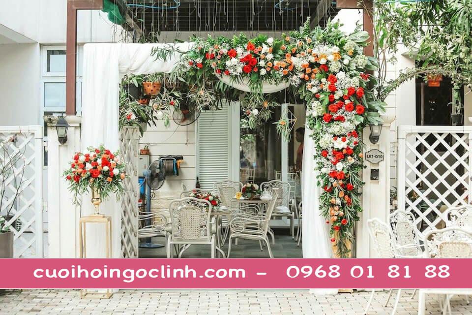Hình ảnh cổng hoa cưới mới nhất 2020