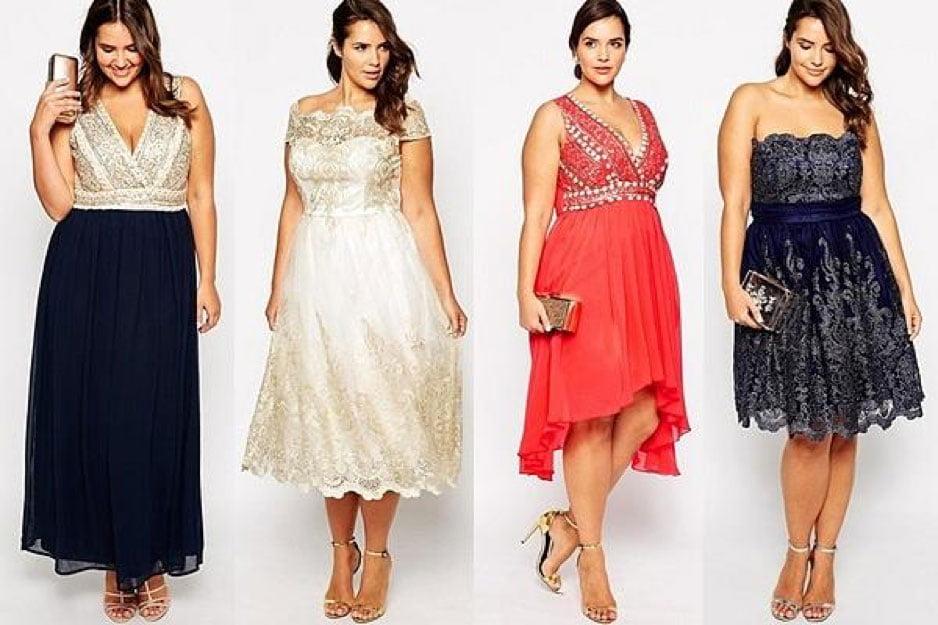 mẫu váy mặc đi đám cưới cho người béo