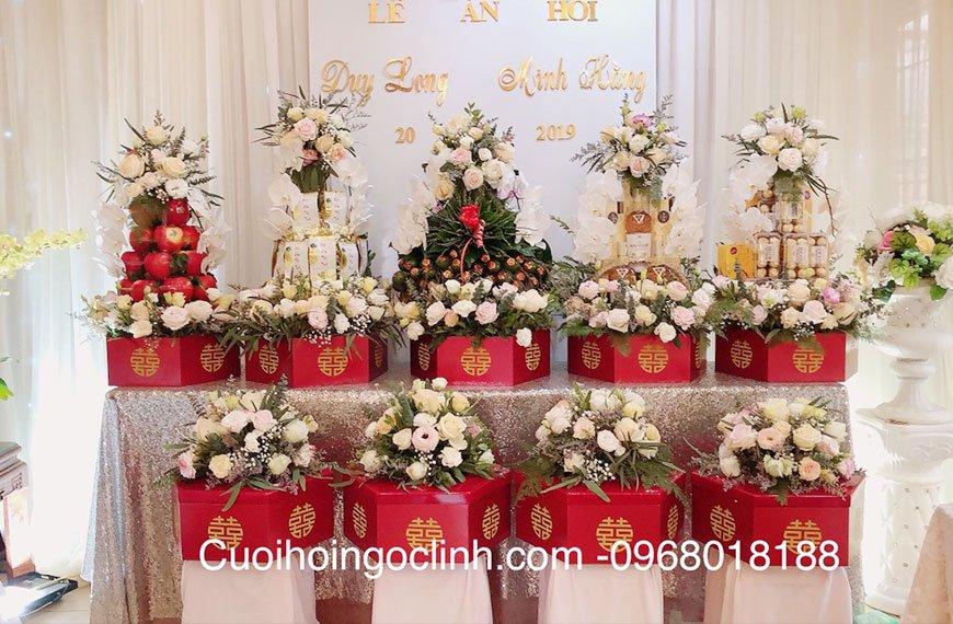 bộ tráp cưới ăn hỏi 9 lễ đẹp tại hà nội