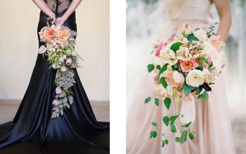 hoa cầm tay cô dâu dáng dài