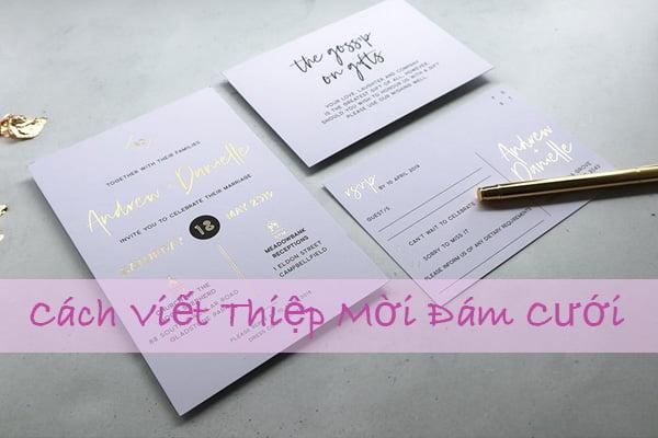 cách viết thiệp mời đám cưới