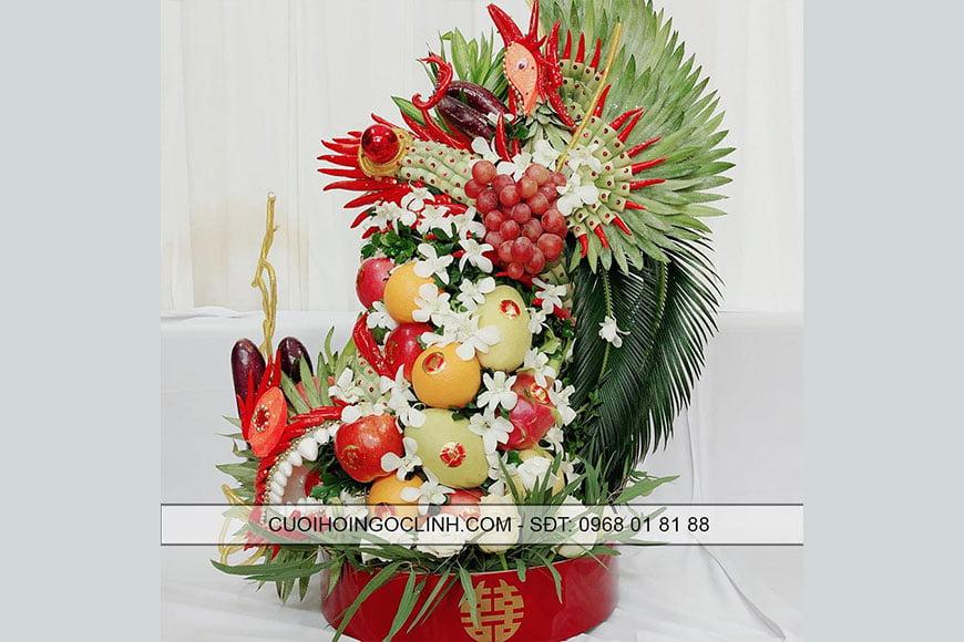mâm tráp hoa quả