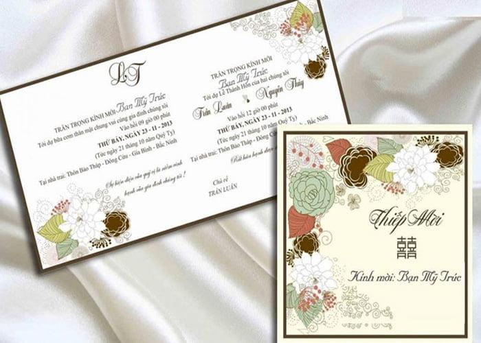 Thông tin trong thiệp mời cưới cần chính xác