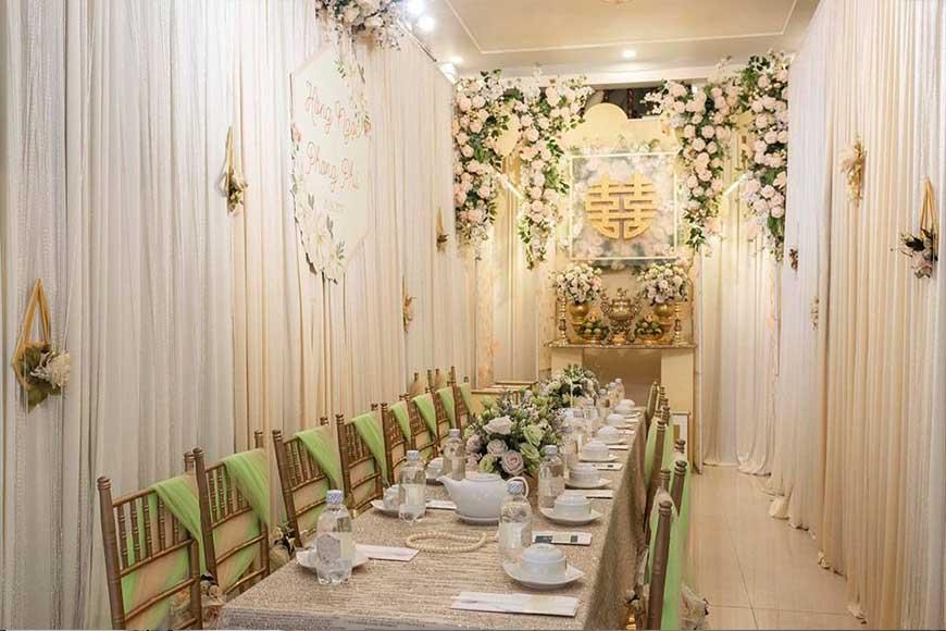 dịch vụ trang trí tiệc cưới tại hà nội
