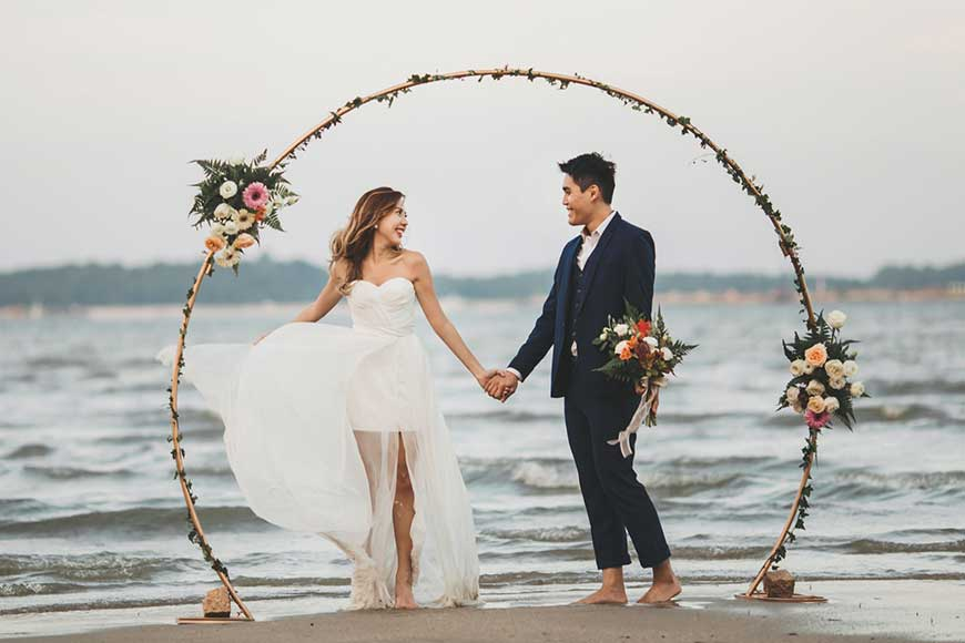 hình ảnh cổng hoa cưới hình tròn siêu đẹp