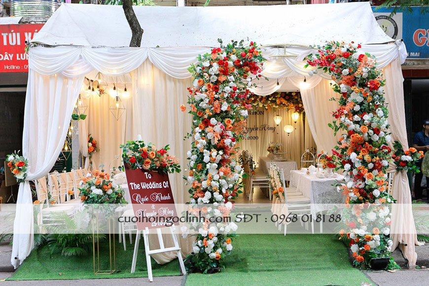 cổng cưới kèm nhà rạp đẹpac
