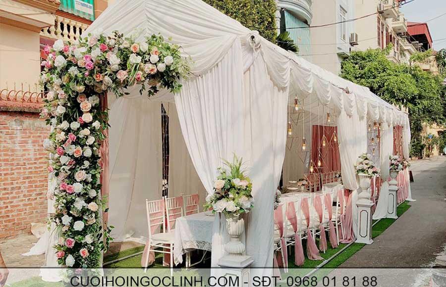 trần nhà rạp đám cưới