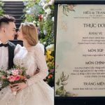 thực đơn đám cưới bình dân