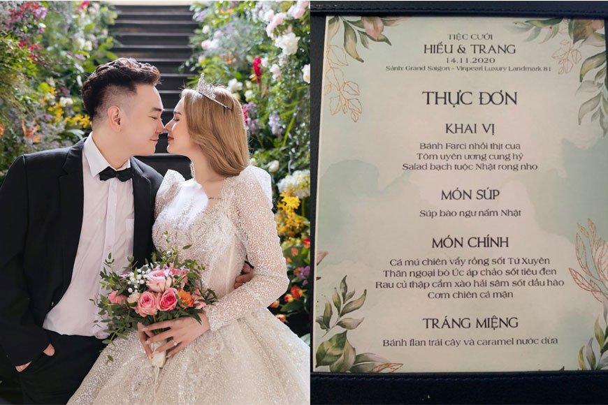 thực đơn cỗ cưới bình dân đơn giản
